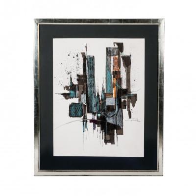 Goache Alain Gabriot / Professional Framing - Non-refelcting Glass