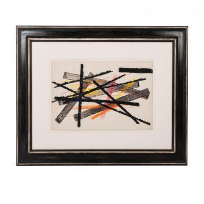 Gouache Abstraite Par Erwin Schott