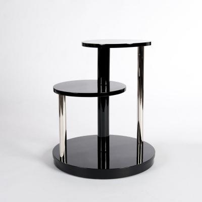 Table Basse Ou Table D'appoint Art Déco Laquée Noire