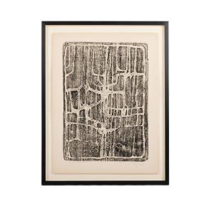 Gravure Originale  Serge Rezvani, Signèe Au Crayon En Bas á Droite, Datée 1958