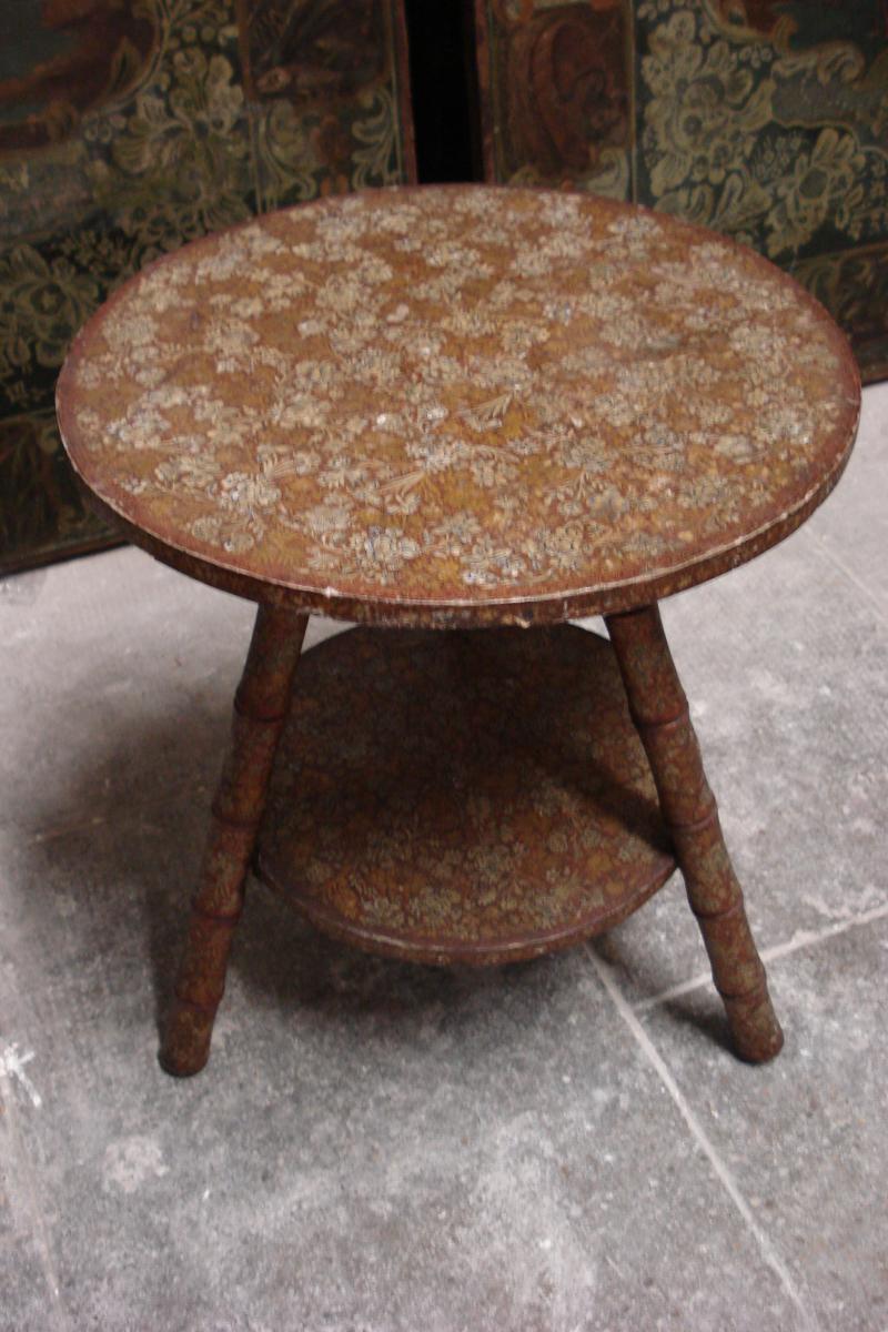 Petite Table Origine Kashmir 19 ème siècle