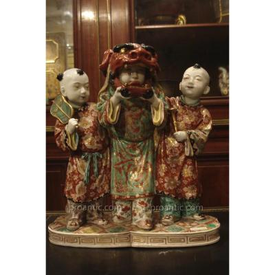 Groupe En Porcelaine Du Japon