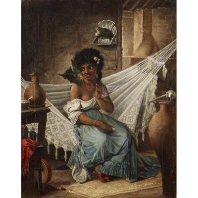 Jeune Femme Aux Perroquets