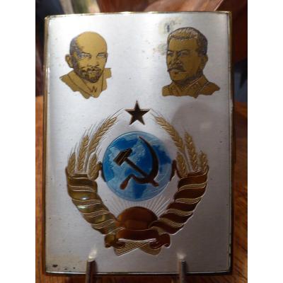 Etui à Cigarettes Lénine Et Staline Urss