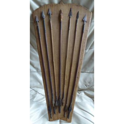 Old Panoply Of African Arrows