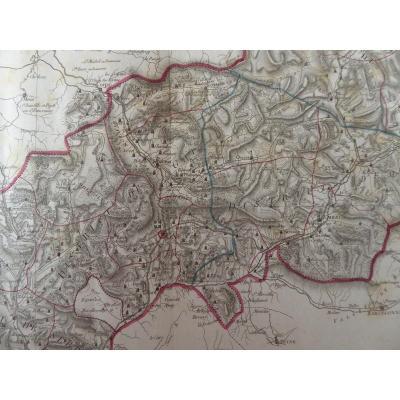 Première Carte Du Département Des Hautes Alpes 1790