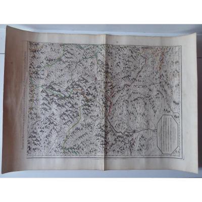 Grande Carte Du «Daufiné, partie Du Graisivaudan, du Gapençois Etc..» Datée De 1706.