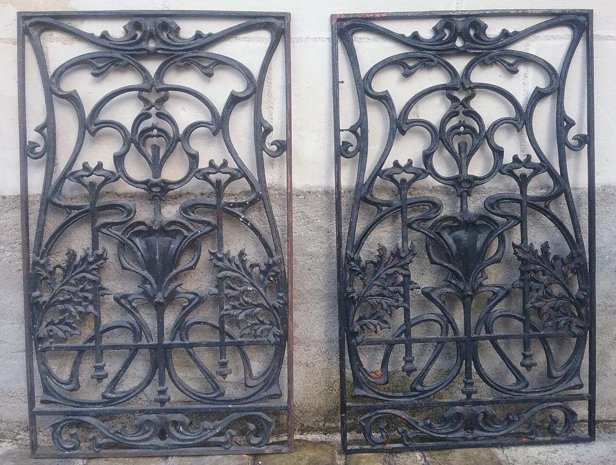 2 Art Nouveau Gate Frames