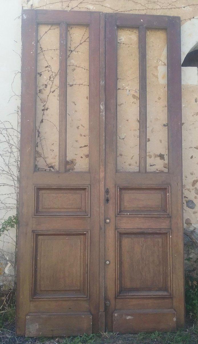 Porte Double d'Entrée En Chêne