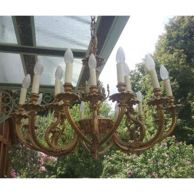 18 Light Bronze Chandelier