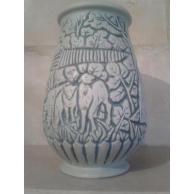 Vase De Mougin Scène Pastorale