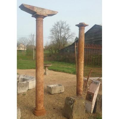 2 Cast Iron Columns