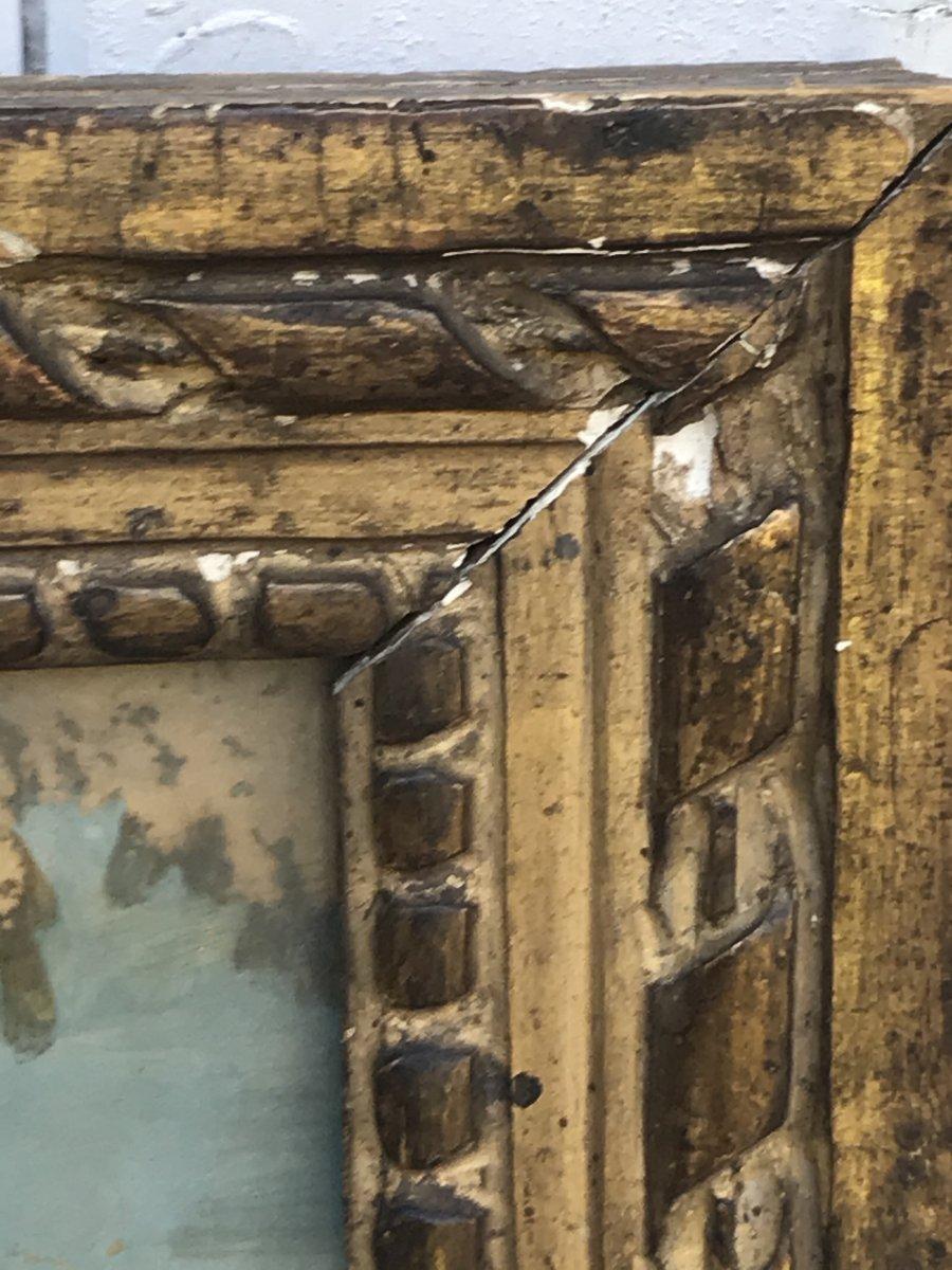 Fixed Under Glass, XVIIth Century, La Mort d'Absalon