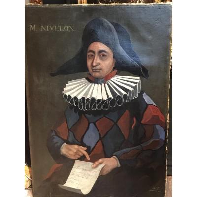 Mr. Nivelon In Harlequin