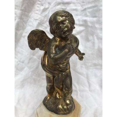 Ange En Bronze Doré,france XVIIIème Siècle