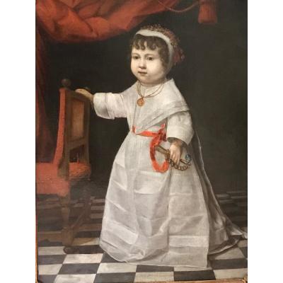 Portrait De Petite Fille,première Moitié Du XVIIème Siècle