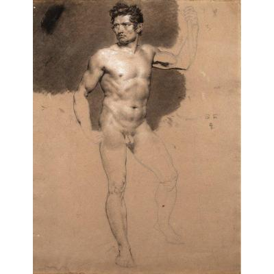 François Xavier Fabre (1766-1837) - Study Of A Naked Man
