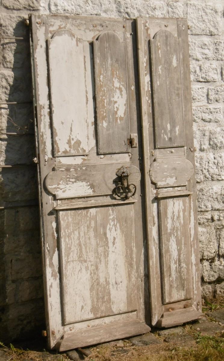 Porte Ancienne Tiercée XVIIIème Boiserie
