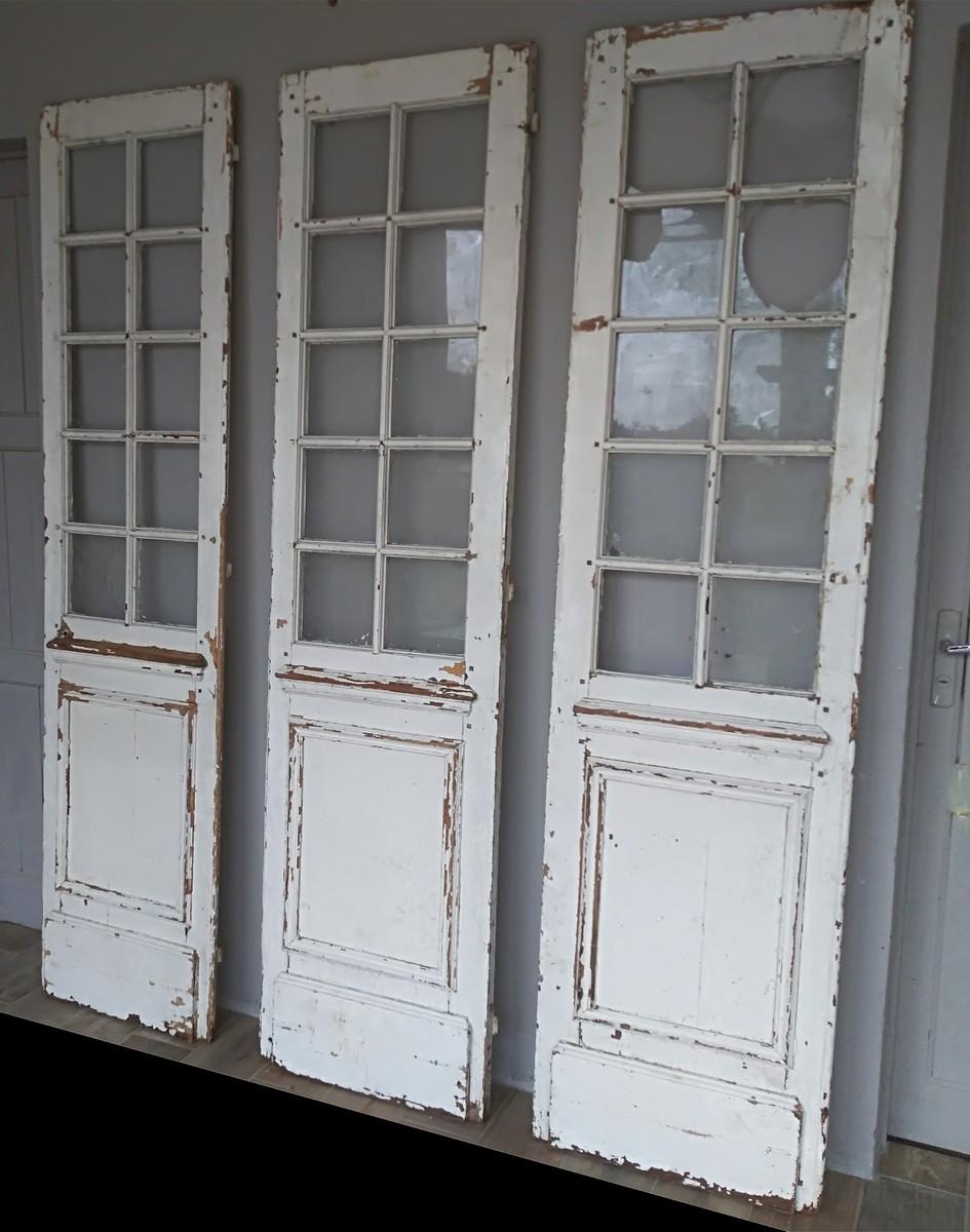 French Glass Doors Xix Library Showcase Door Woodwork Doors Shutters