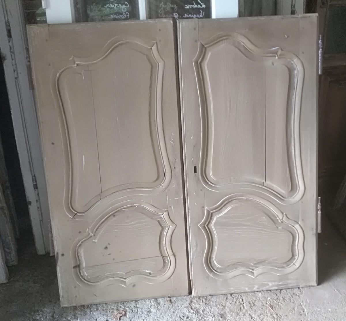 petite porte de placard xviii me en ch ne porte boiserie boiseries portes volets. Black Bedroom Furniture Sets. Home Design Ideas