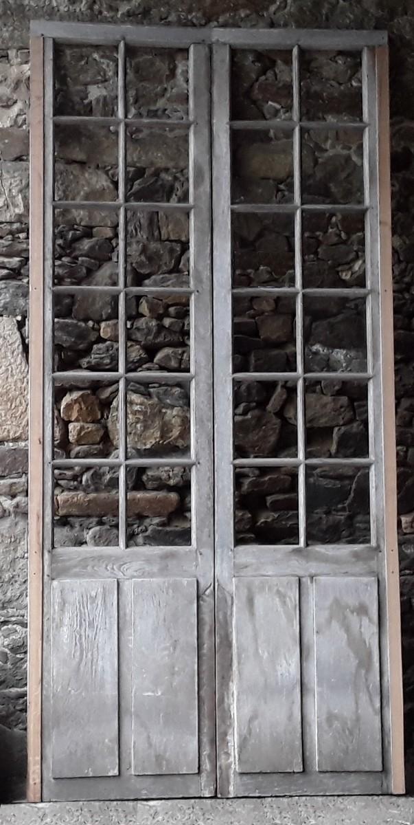 Porte Fenêtre Orangerie Boiserie Portes Chêne