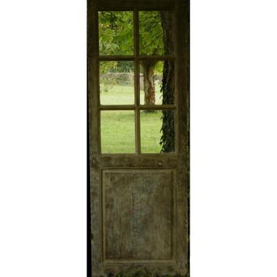 Porte Vitrée Ancienne Chêne XVIIIème Boiserie
