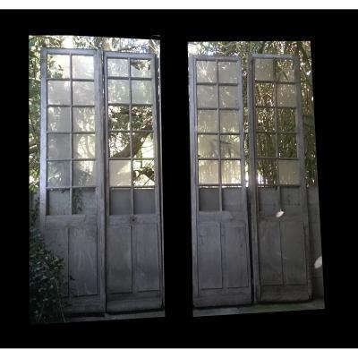 Trois Paires De Porte Fenêtre Orangerie Boiserie Portes chên