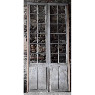 Pair Of Door Window Orangerie Woodwork Doors Oak