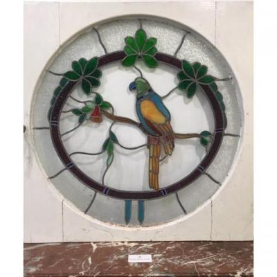 Decorative Stained Glass Art Deco Parrot