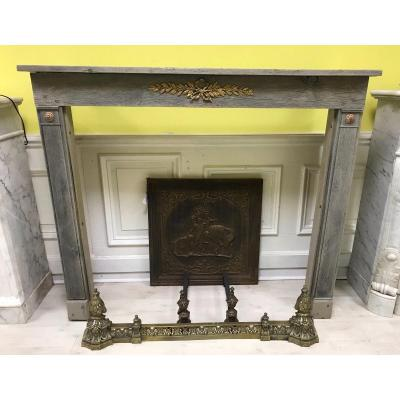 Directoire Oak And Bronzes Fireplace
