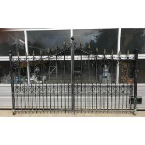 Wrought Iron Double Leaf Gate