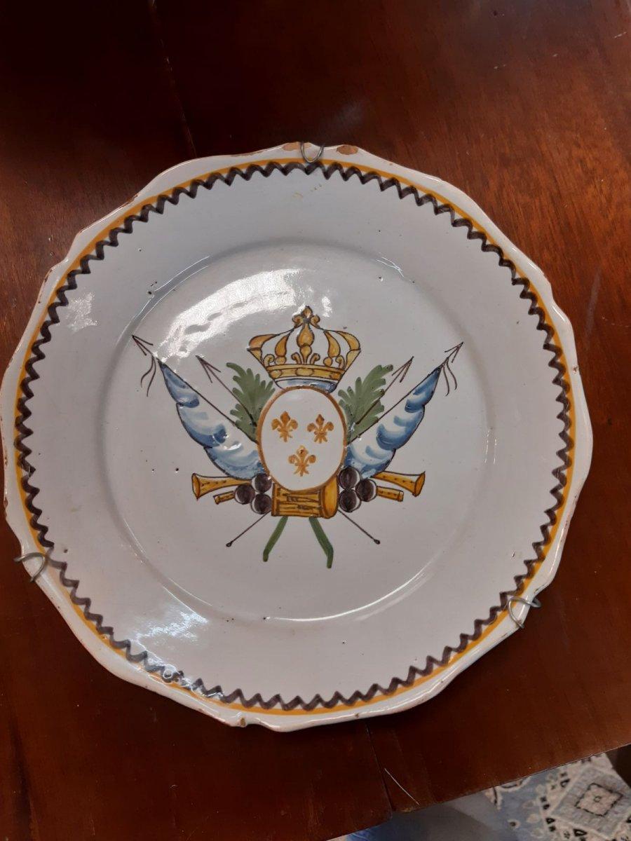 Assiette révolutionnaire  XVIIIe Siècle Nevers