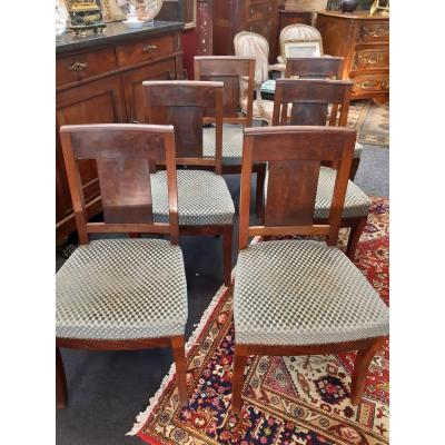 Suite Of 6 Empire Period Chairs