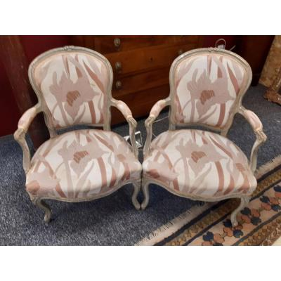 Pair Of Louis XV Period Armchairs