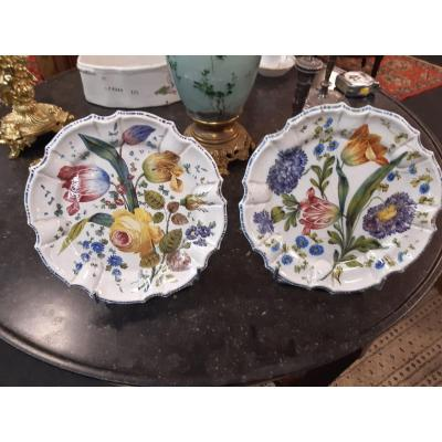 Pair Of Earthenware Plates Italy Bassano