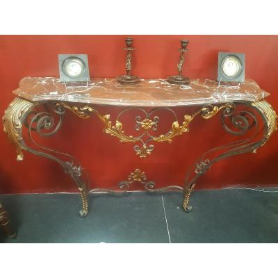 20th Century Wrought Iron Console