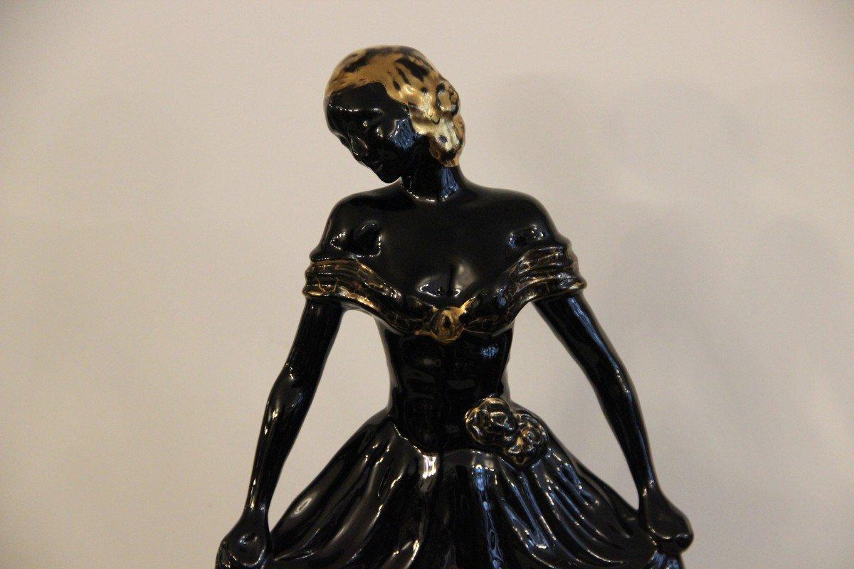 Boch La Louvière Barjansky Catherine / Charles Catteau  Jeune Femme En Céramique -photo-2