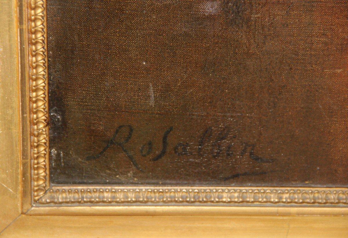 Peinture De Marie Rosalbin De Buncey 1833-1891  Nymphe Et Putti-photo-5