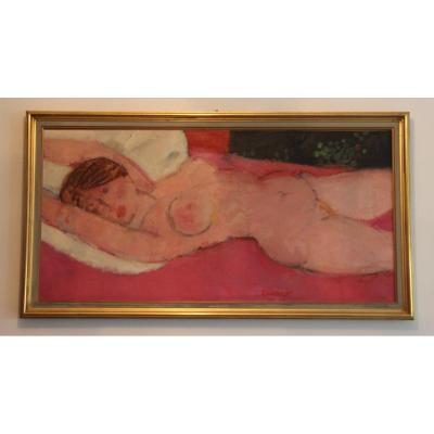 Albert Zavaro Nude Woman Lying Twentieth