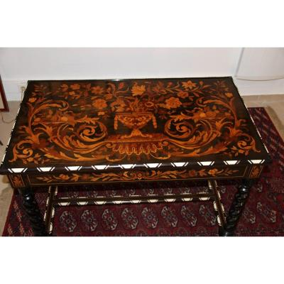 Tric Trac Table In Floral Marquetry D, Napoleon III