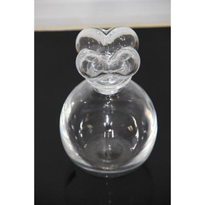 Lalique Crystal Carafe Clover Model