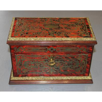 Box / Tea Box In Boulle Theodore Marquetry Annee In Paris XIX
