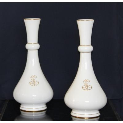 Pair Of Sèvres Porcelain Vases 1887