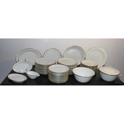 Limoges Goumot-labesse Porcelain Service Regency Model