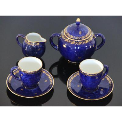 Head To Head In Sèvres Porcelain Night Blue 1921