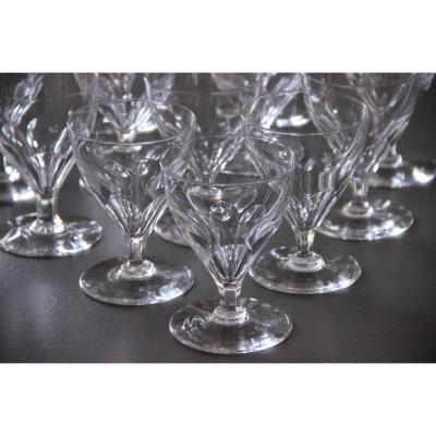 12 Baccarat Art Deco Crystal Port Glasses