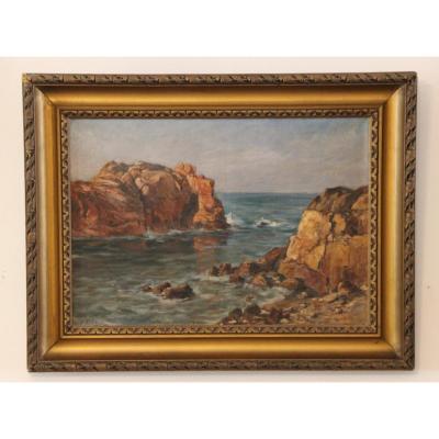 Rocher Du Paon île De Bréhat en Bretagne Peint Par Eysseric Joseph 1860-1932