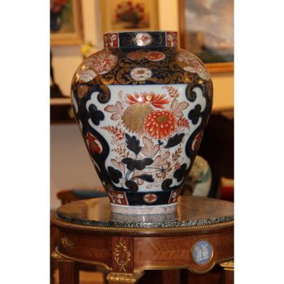 Grand Vase En Porcelaine Imari Japon