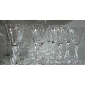 Cristal Saint Louis 12 Verres à Eau  Modèle Lozère