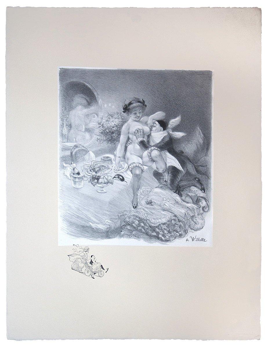 A.-L. Willette (1857-1926), Sept péchés capitaux, lithographies originales grand format